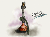 Shisha pipe - Paper app on iPad