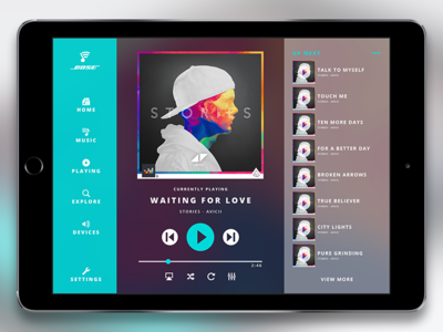 Bose SoundTouch App music first shot ux app design debuts app ipad