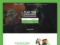 Minecraft Landing Page