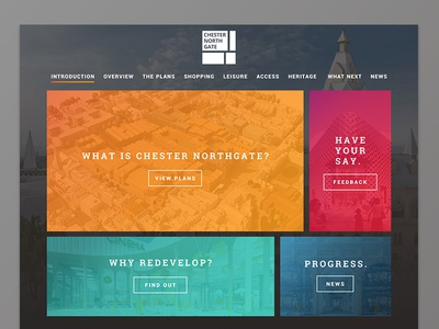 Chester Northgate Website strong chester web design gradient ui ux website