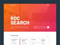 Roc Search recruitment re-design website ui ux web design