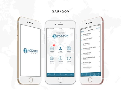 Mobile design concept for energy job sector app