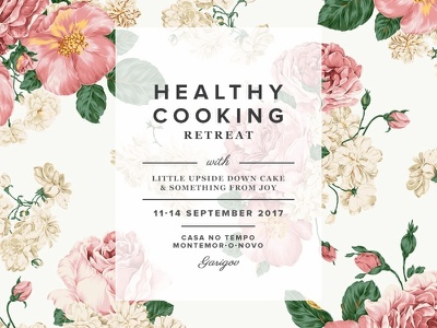 Healthy Cooking Retreat font combination typography roses floral retreat cooking healthy