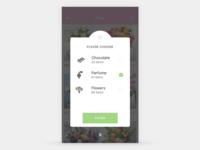 Pop-up filter screen navigation