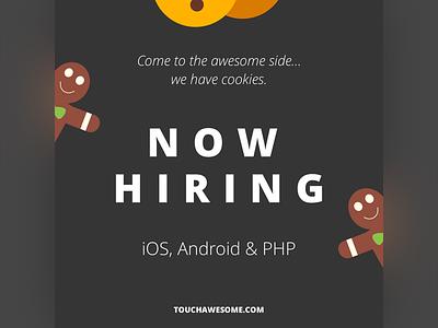 Now hiring - Sweet Post Design design cookies post instagram job php android ios hiring