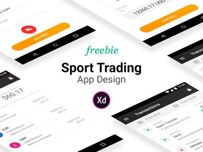 Sport Trading App Design Adobe Xd 35 Screens