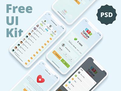 Mobile Game Free UI Kit for iOS kids psd free ios freebie game free game ui mobile app mobile game