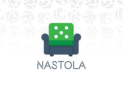 NASTOLA - Board Games Logo online store chair branding design vector green logo logo dice board games