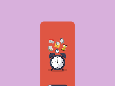 Timer app UI design concept minimalistic clock app ui clock minimal flat user interface meditation reminder app reminder countdown timer countdown timer app mobile ui mobile design mobile app app ui ux design ui design app design app
