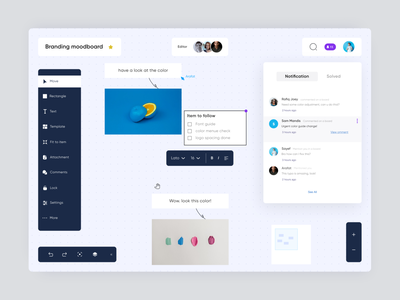 Moodboard creation and file sharing app design editor web app component library design tool system uiux ui elements collaboration design app application componets dashboard product design product editor visual design component design interface elements mood board