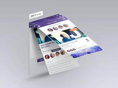 GateMe is almost iOS7 ready ios7 mobile design ui clean mockup iphone app