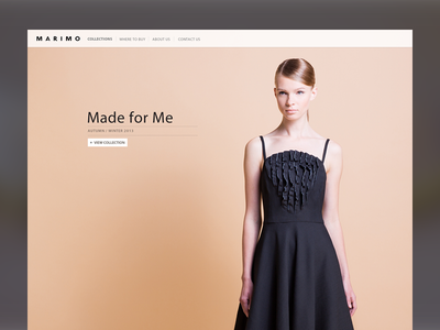 A bit more fashion fashion brand website web design clean simple woman sexy