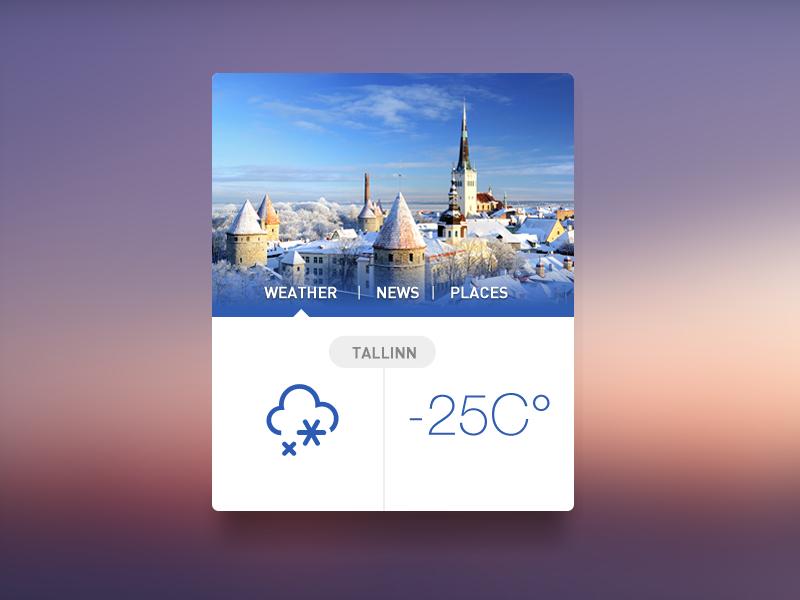 Tallinn Widget [Freebie] tallinn weather widget news places flat simple clean city