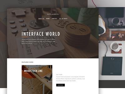 Nuts & Bolts furniture web design flat clean web studio portfolio