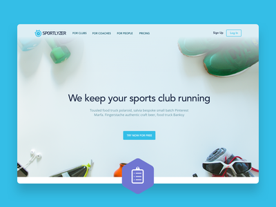 Sportlyzer - Sales page ux flat sketch3 sport web design web sales startup clean simple sketch