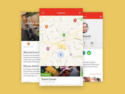 Like A Local iPhone App ios likealocal travel app iphone flat mobile ux ui sketchapp sketch3