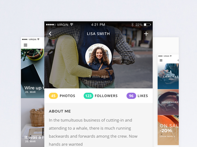 Wunder - Multi-Purpose Mobile UI Kit For Sketch app template ios mobile flat design sketch sketchapp product sale kit ui