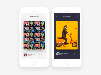 Daily Inspiration App Concept sketchapp ios art gallery app simple flat clean mobile ui daily ui