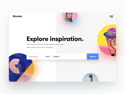 Inspiration - Landing page concept