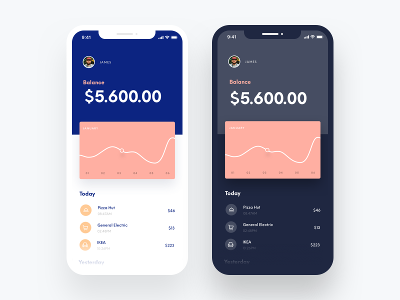 Banking App Concept – iPhone X (Freebie)
