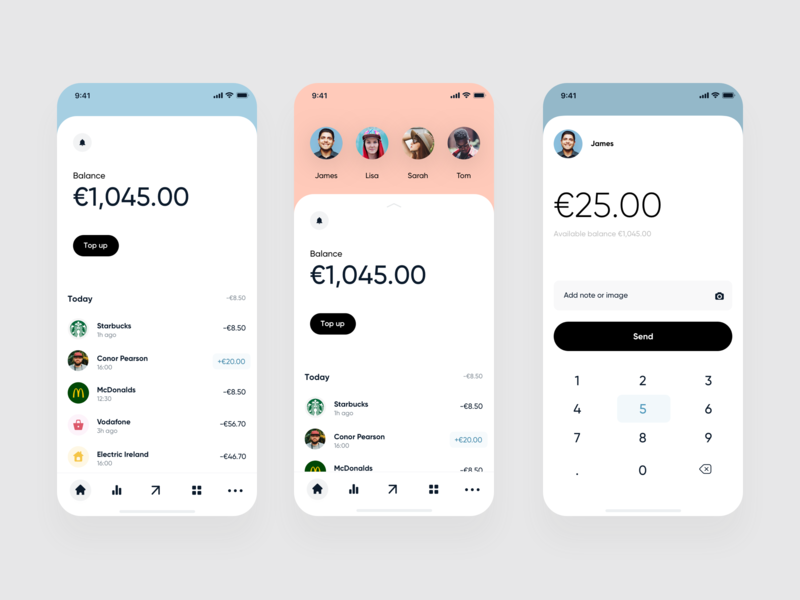 Mobile Banking App banking app finance banking app flat clean ios mobile ux ui