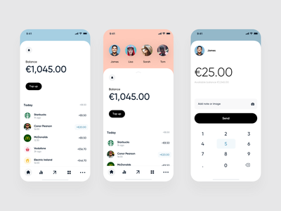 Mobile Banking App banking app finance banking app flat clean ios mobile ux ui
