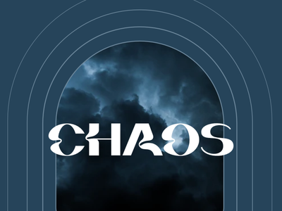 Chaos graphic design design typography chaos