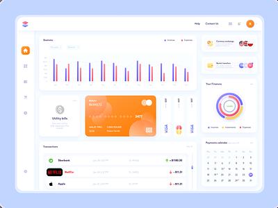 bank app - home page banking website banking app bank app bank clean visual design software design software light theme dashboard app design uiux design figma