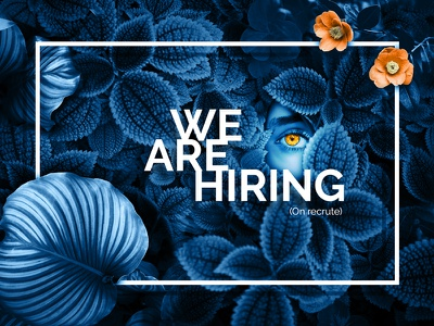 We are hiring creative agency flower design hiring job