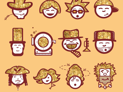 McCabe's Granola Packaging Characters