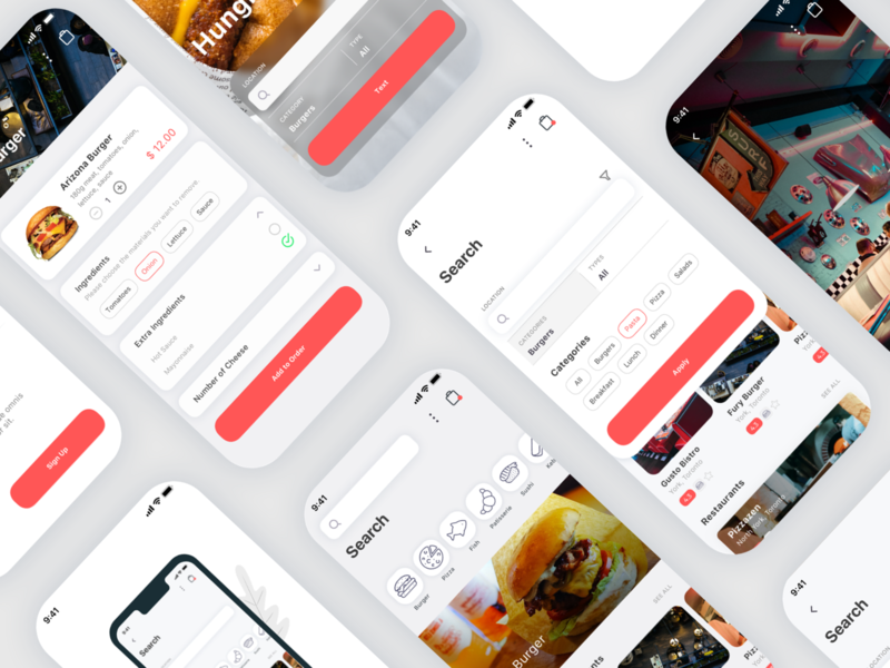 Spes Food Delivery App UI Kit