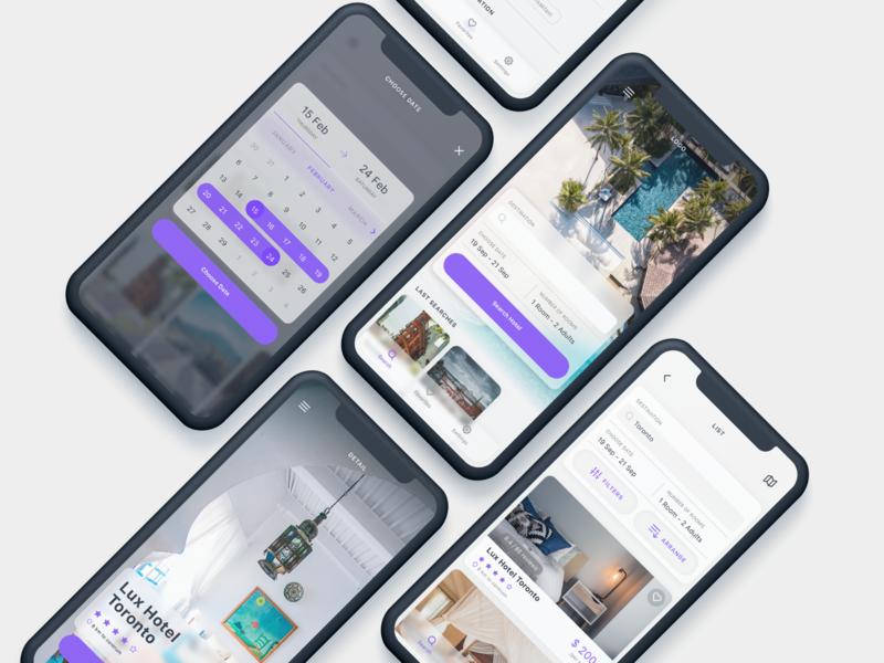 Rooms - Hotel Booking App UI Kit