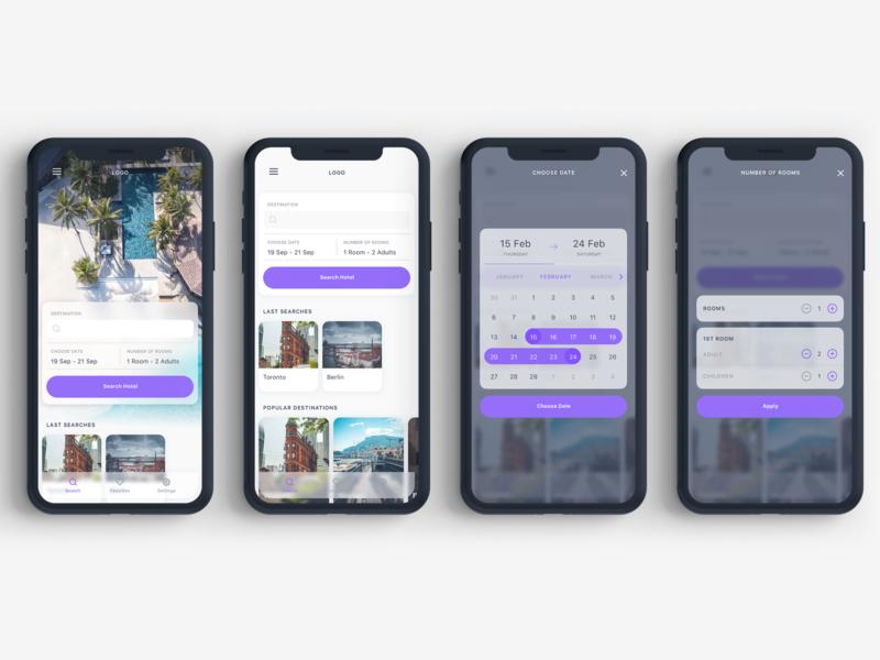 Rooms Hotel Booking App UI Kit