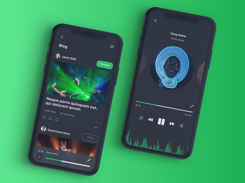 Vega Music IOS UI Kit