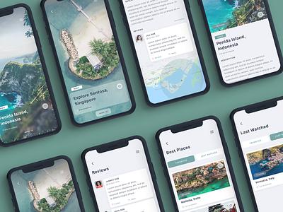 Gezi Travel App UI Kit user detail ui8 blog travel listing iphonex design ios mobile app ui sketch