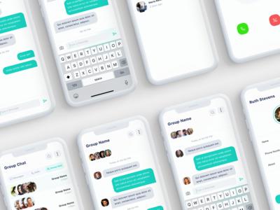 Mesene - Message Ui Kit Mobile App