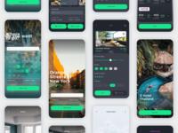 Vesta Dark Travel Booking App UI Kit