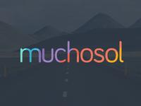 Muchosol Logo homeaway airbnb rental vacation corporate brand design logo