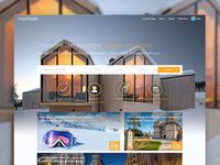 Vacation Rental Website design flat web rental vacation