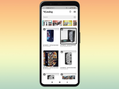 UI Design - Vcatalog reseller apps banner design design branding app mobile mobile ui uiux ux ui ui design