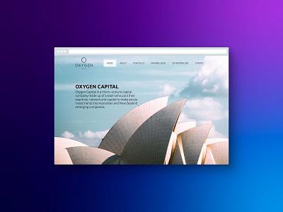 Oxygen Capital design web