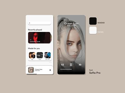 music concept app music ui design uiux ui