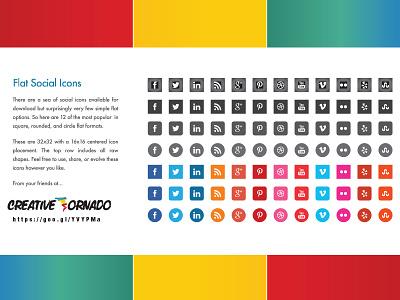 Download Free Flat Social Icons social icons vector icons free download free icons