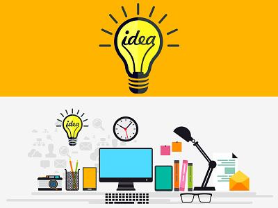 Minimalist Idea icon flat icon icon design vector workstation bulb inspiration vector icon idea icon minimalist