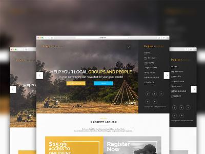 Mockup Web Design For PROJECT JAGUAR photoshop psd safari mockup interface landing page mockup website design