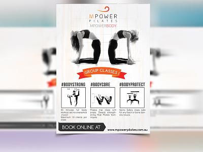 Poster Design flyer gym vector orange illustrator poster body power poster design