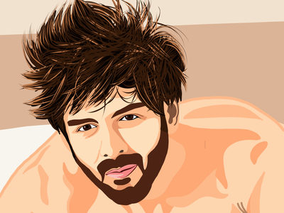 Vector Portrait of Kartik Aaryan design vector illustration vector design vectorart vector illustration