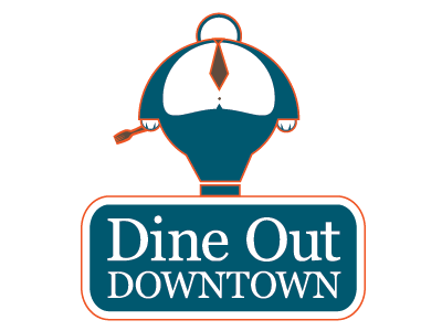 Dine Out Downtown Logo logo