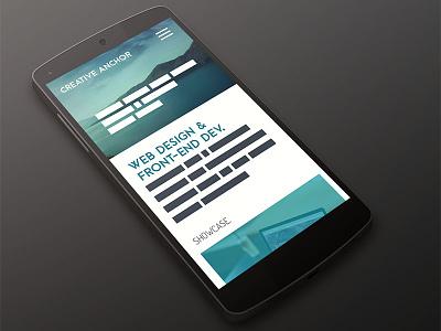 Portfolio Redesign web design mobile portfolio website mobile design redesign
