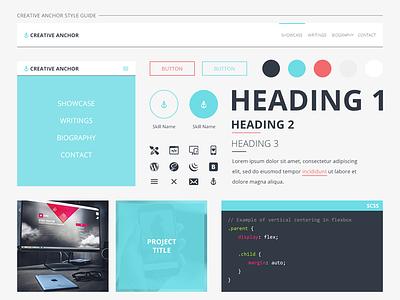 Creative Anchor Style Guide ui design user interface design style guide website redesign portfolio web design
